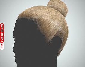 Hair - Top Bun - Gen2 3D model