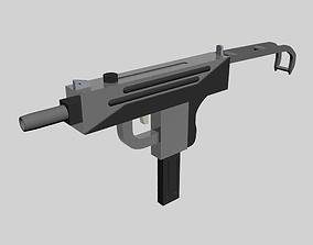 Low-Poly Uzi Gun 3D model