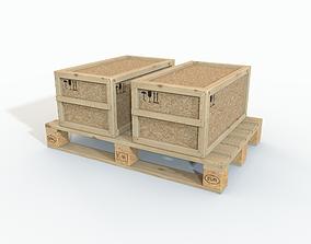 3D model Boxes on a pallet
