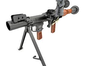3D model grenade launcher RPG-7 V2