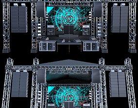 3D Mini Concert Stage