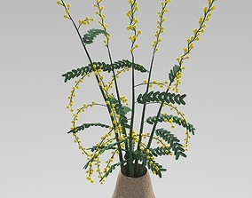 3D mimosa in a pot