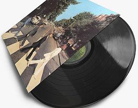 Vintage Vinyl Records 3D