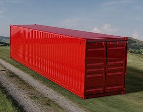 3D model 40FT ISO Shipping Container high