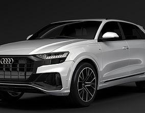 3D model Audi Q8 55 TFSI quattro S line 2018