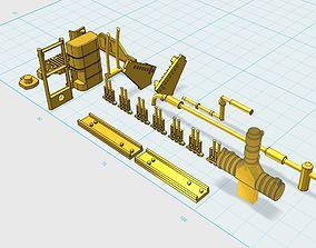 Deagostini Millennium Falcon Missing parts 3D print model