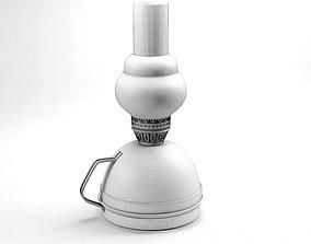 glass 3D model kerosene lamp