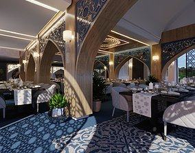 Modern Persan Restaurant 3D