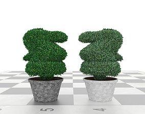 3D asset VR / AR ready Plant bush