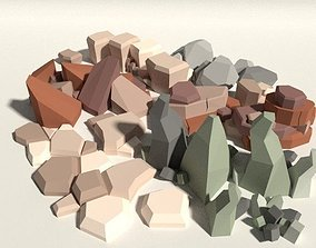 Low Poly Rock Pack 3D asset VR / AR ready