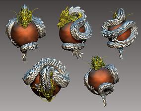 dragon oriental 3D print model