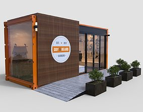 3D model Barber Shop Container