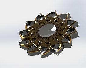 3D model Fidget spinner with creative art