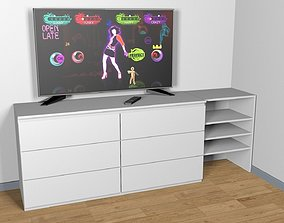 MALM and TV LG 55 3D model