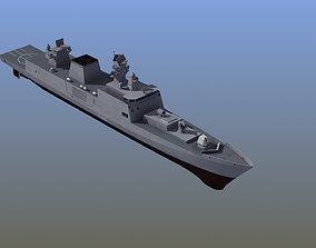 Shivalik Stealth Frigate INS 3D