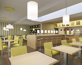 3D bistro restaurant interior