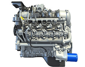 3D V8 Turbo Engine Models