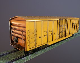 VR / AR ready Train Box Car Low-poly 3D model
