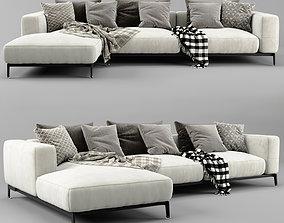 Flexform Ettore Chaise Longue Sofa 3D model