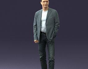 Guy gray blazer and jeans 0616 3D Print Ready
