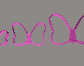 3D print model Minnie Knots Cookie Cutter Set