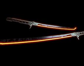 ARASAKA THERMAL KATANA from CYBERPUNK 2077 3D model