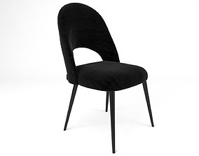 3D model motifs Chair Iris Noir MAISONS DU MONDE