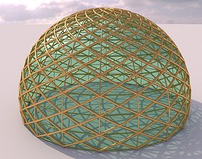 3D Dome mandala and geodesic like structure with glass