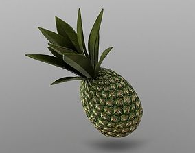3D model low-poly Pineapple