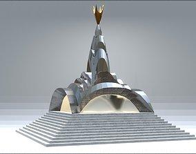 3D model Chrome Pyramid