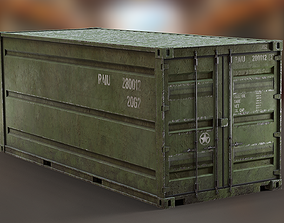 3D model Industrial - Army Container PBR