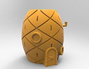 3D printable model sponge bob house