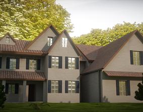 Colonial house 3D model VR / AR ready PBR