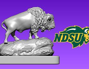Logo North Dakota State Bison football - Wood CNC - 3D