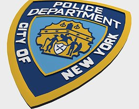 3D model NYPD Police Department logo