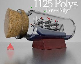 Decorative Ship low poly 3D asset