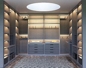 SENZAFINE walk-in closet from Poliform 3D