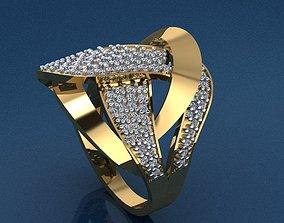 Gold Ring 3D print model 3D print model diamond-ring