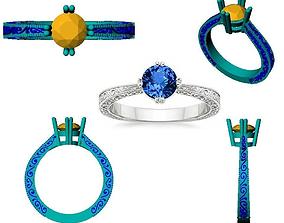 DESIGNER ENGAGEMENT RING 3D print model