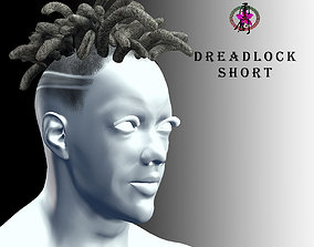 Apocalyptic Hairstyles-Dreadlocks Short 3D asset