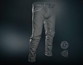 3D asset Gray Jeans Pants