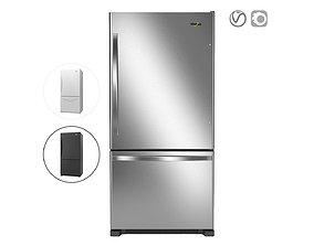3D Whirlpool 33-inches wide Bottom-Freezer Refrigerator