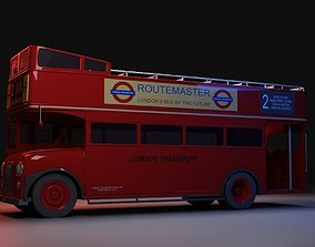 3D London Bus Open Top