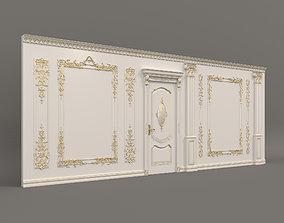 European Style Interior Wall Decoration 3D