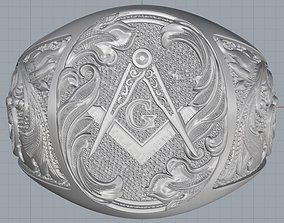 Mason ring 3D print model
