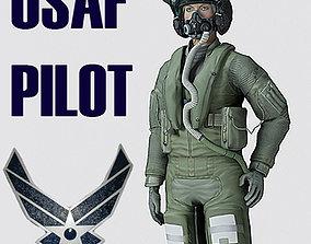 3D model US Air Force F35AA1 Pilot