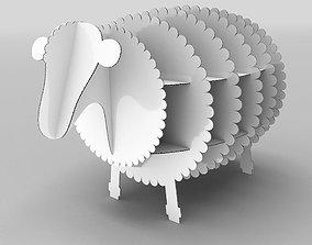 Lamb Cardboard 3D model game-ready