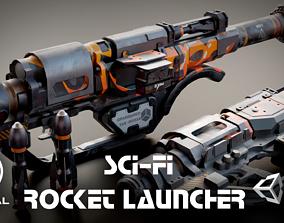 3D model Sci-fi Rocket Launcher Stylized