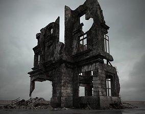 3D destroyed building 099 am165
