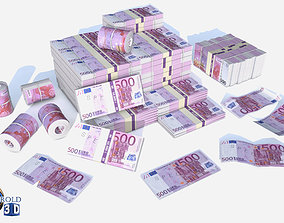 European Union Euro Currency Pack 3d model realtime
